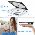 Super Mini CD DVD Player with Built-in Speaker, HDMI AV Output Portable Palm-Size DVD CD Player All Region Free, HD 1080P, USB Supported, HDMI/AV Cables Included